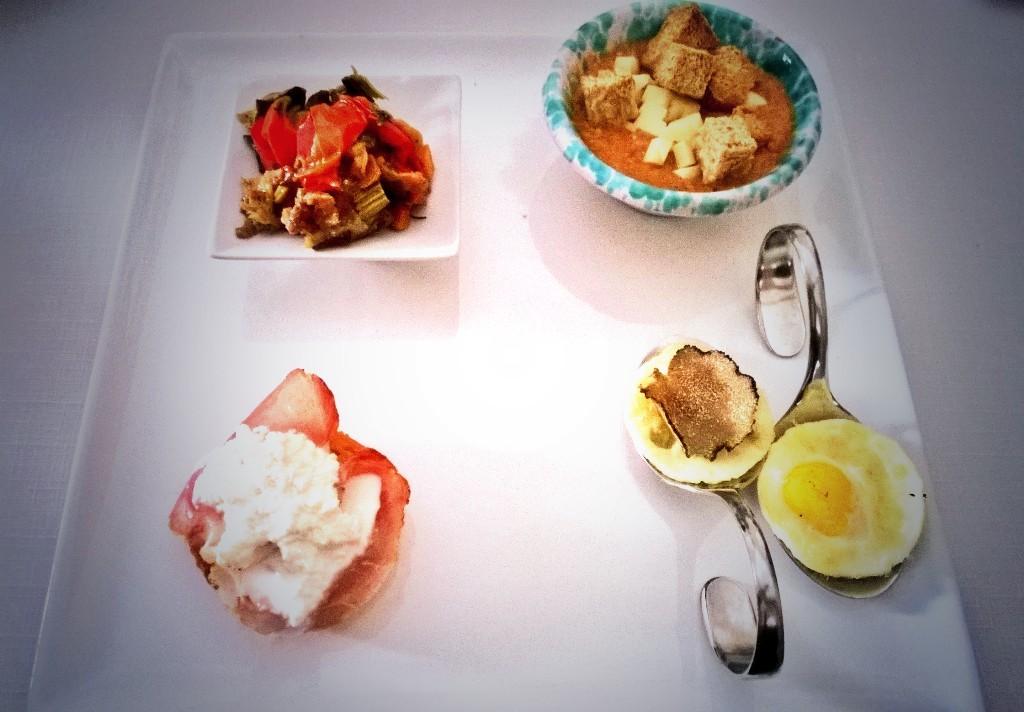 uova di quaglia e tartufo