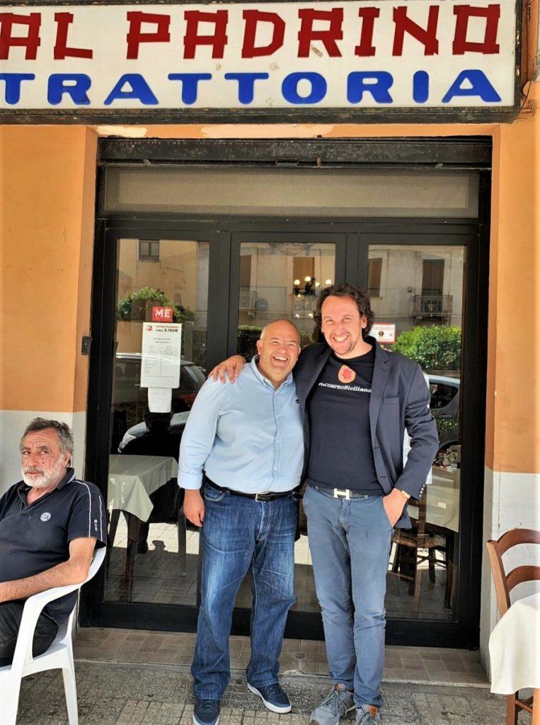 Damiano Chiaramonte e Francesco Caravello Trattoria Al Padrino Messinat